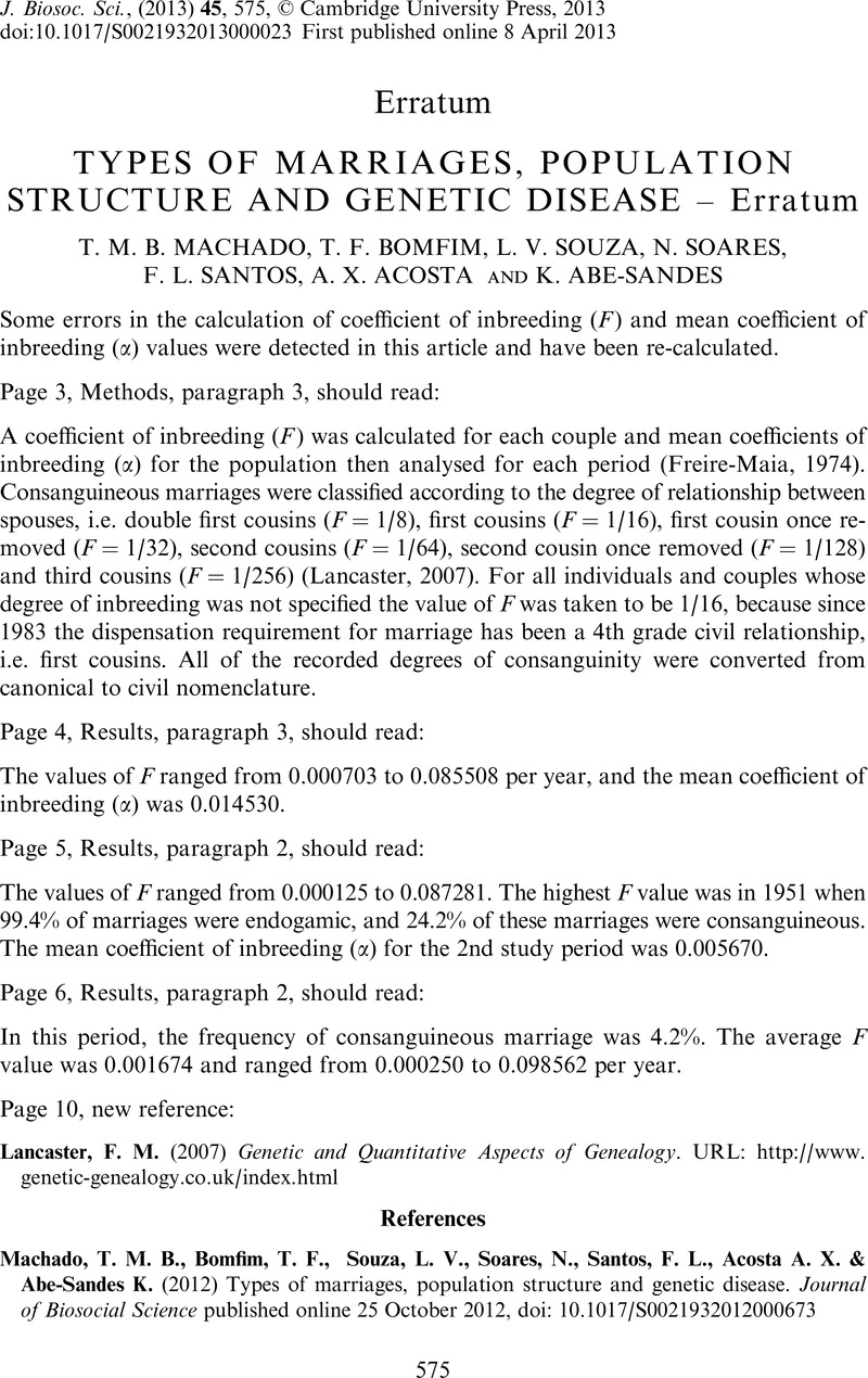 TYPES OF MARRIAGES, POPULATION STRUCTURE AND GENETIC DISEASE