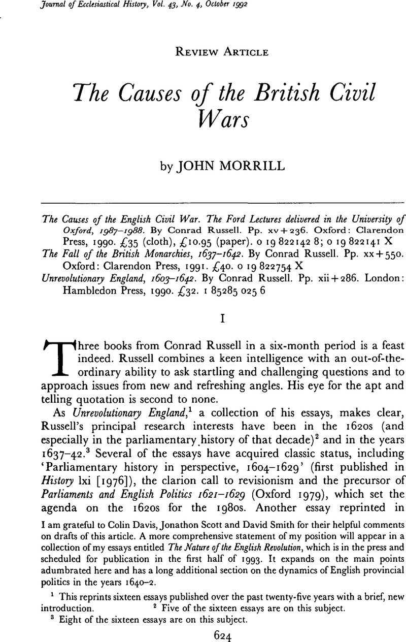 Thomas Sowell Essays Copyright Essay Writing Review also Toulmin Model Essay The Causes Of The British Civil Wars  The Journal Of  John Berger Ways Of Seeing Essay