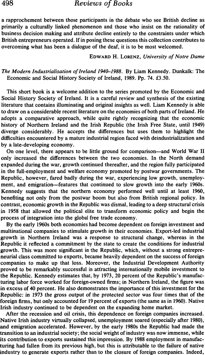 The Modern Industrialisation of Ireland 1940–1988  By Liam