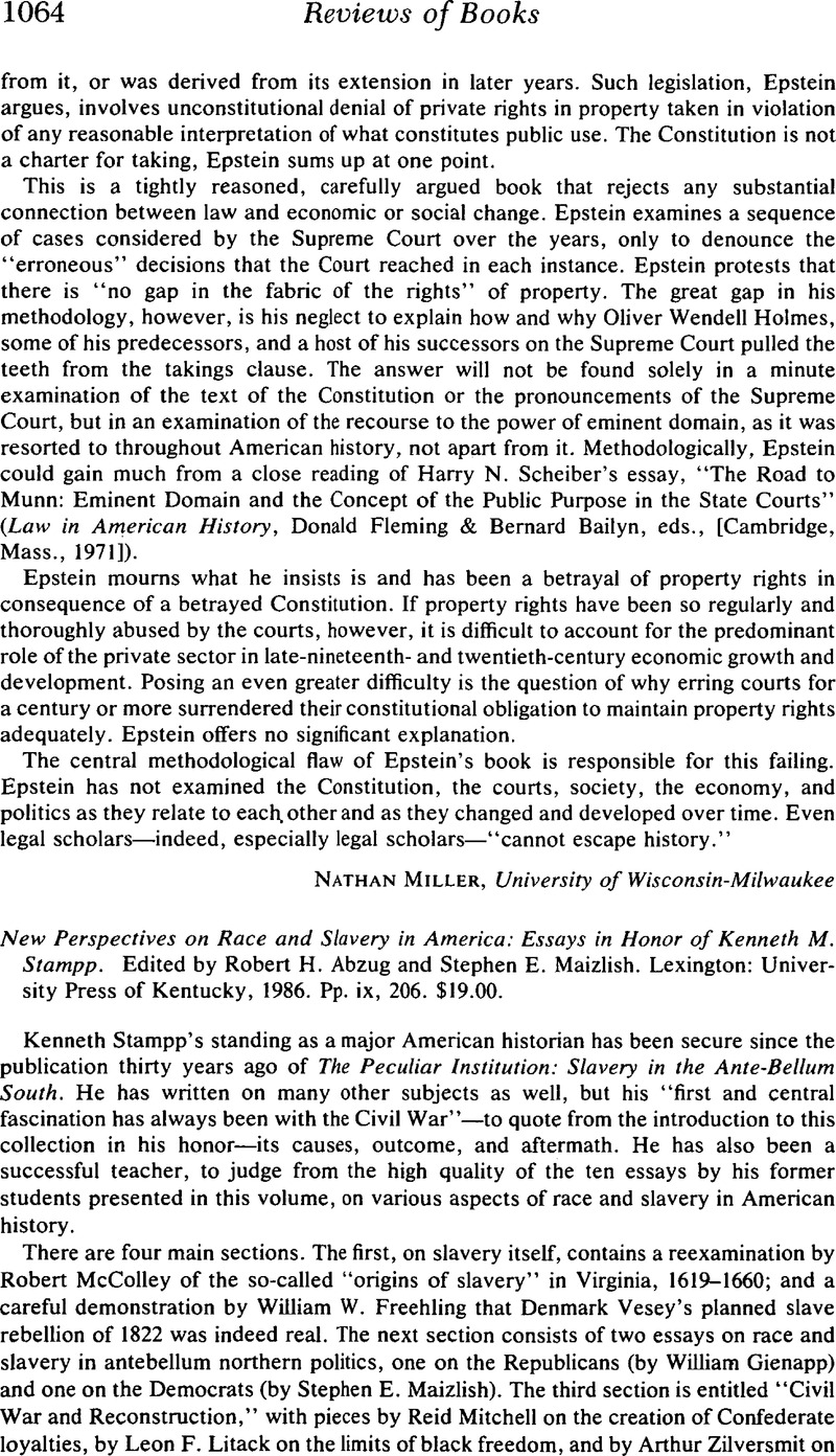 Personal Narrative Essay About Your Life New Perspectives On Race And Slavery In America Essays In Honor Of Kenneth  M Stampp Edited By Robert H Abzug And Stephen E Maizlish Write College Essays also I Know Why The Caged Bird Sings Essay New Perspectives On Race And Slavery In America Essays In Honor Of  Essay On Rome
