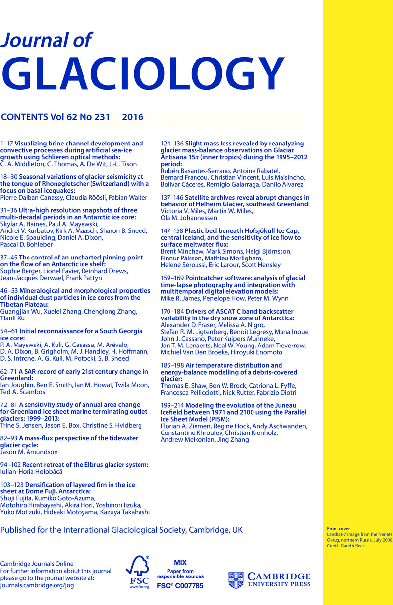 new concept d428a 47ec1 JOG volume 62 issue 231 Cover and Back matter | Journal of ...