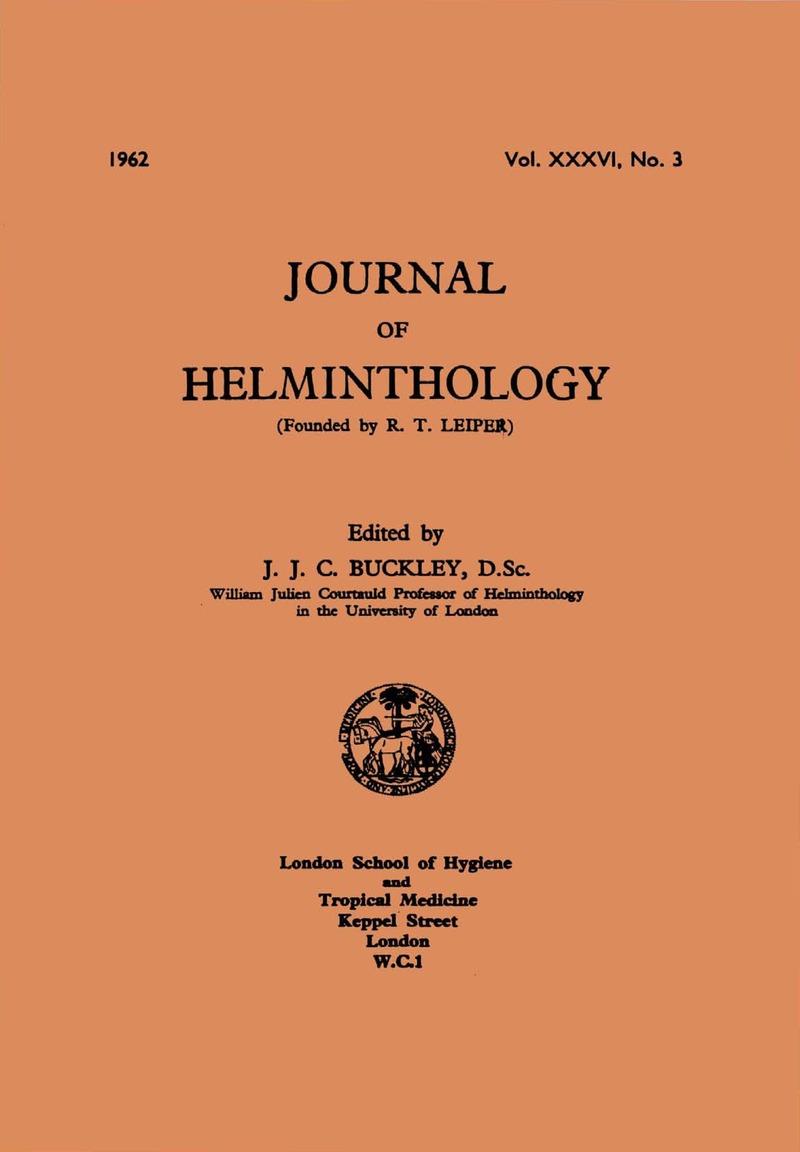 j helminthology