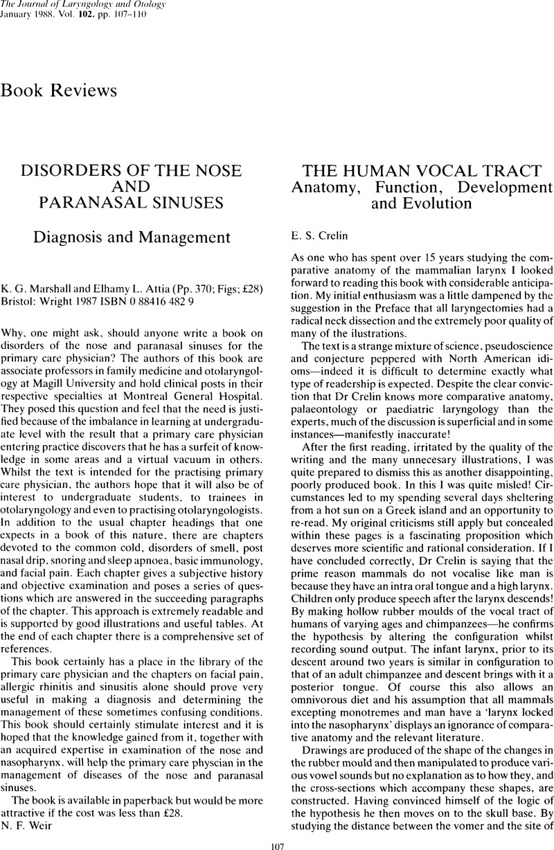 The Human Vocal Tract: Anatomy, Function, Development and ...