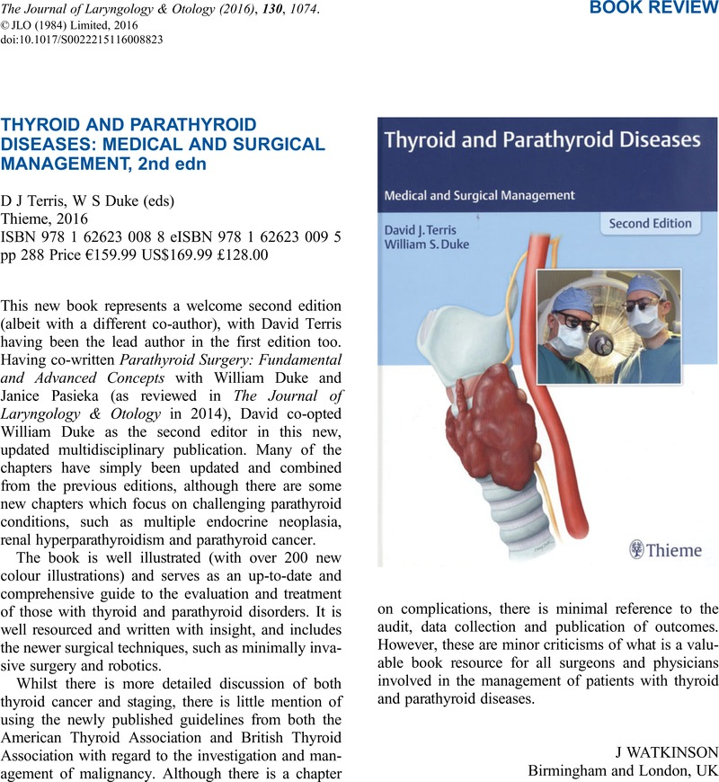 Thyroid And Parathyroid Diseases Medical And Surgical Management