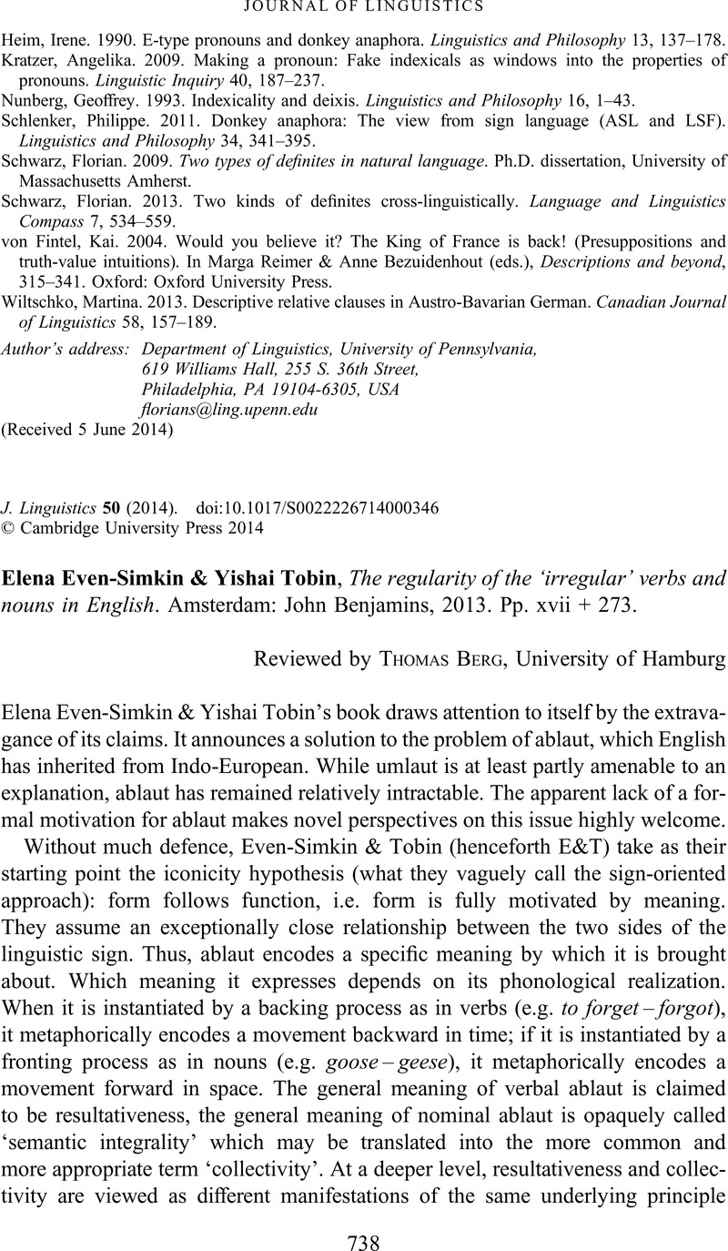 Elena Even-Simkin & Yishai Tobin, The regularity of the