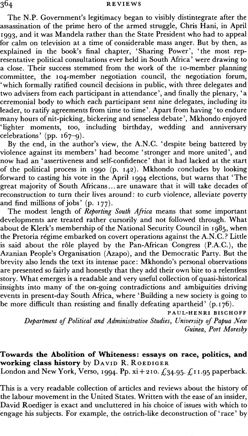 Thesis In Essay Towards The Abolition Of Whiteness Essays On Race Politics And Working  Class History By David R Roediger London And New York Verso  Pp Xi    Advanced English Essay also English Essay About Environment Towards The Abolition Of Whiteness Essays On Race Politics And  Proposal Argument Essay Topics