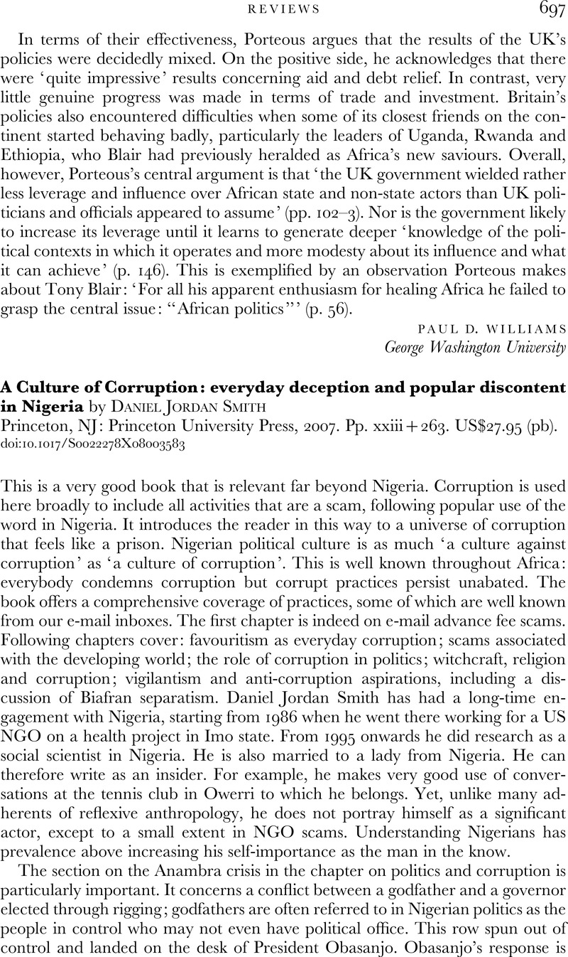 A Culture of Corruption: everyday deception and popular