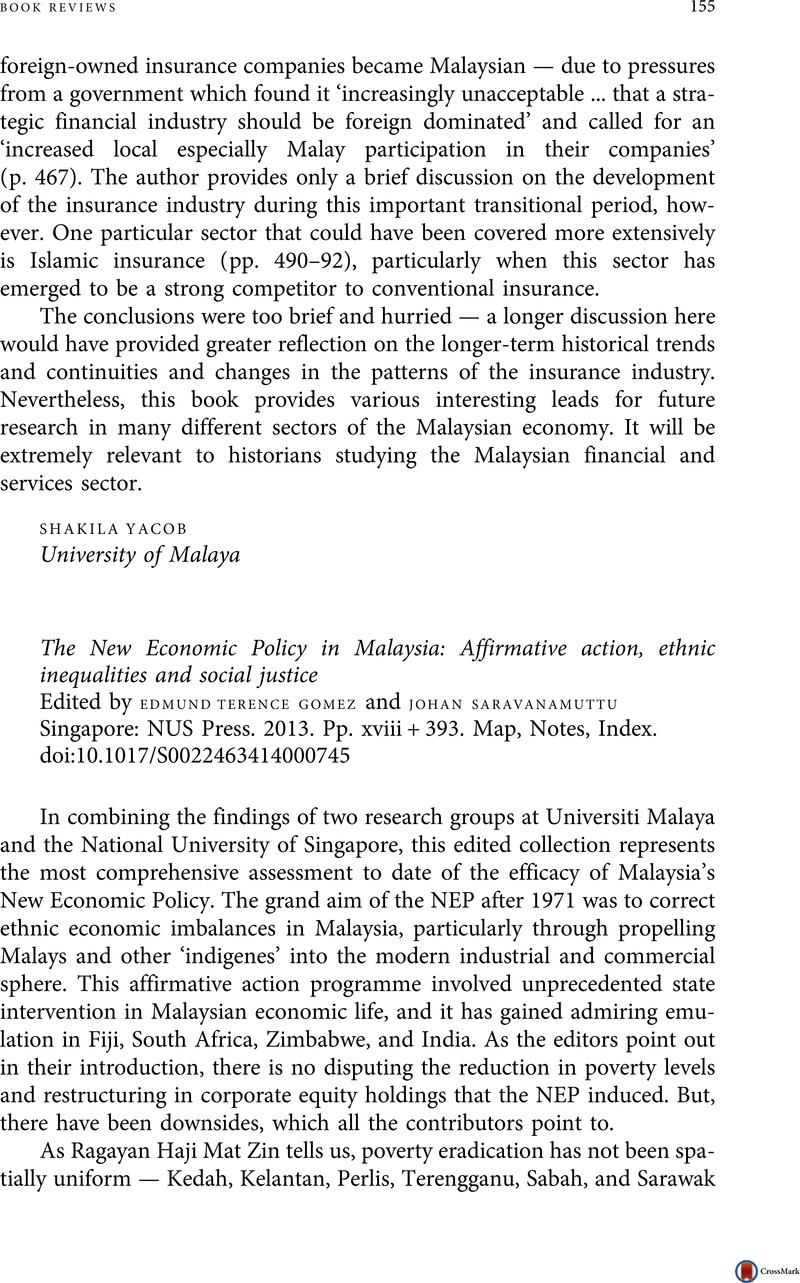 Malaysia  The New Economic Policy in Malaysia: Affirmative