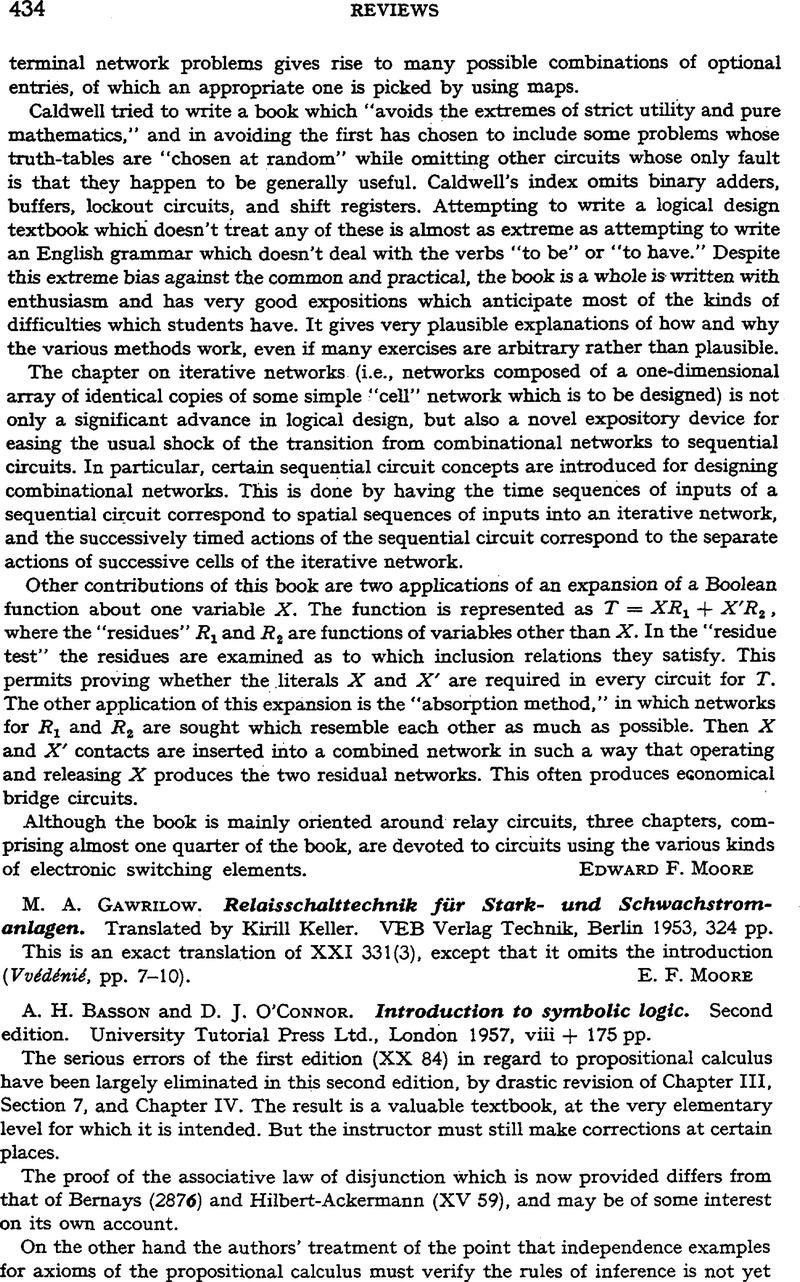 Basson a h and oconnor d j introduction to symbolic logic copyright copyright association for symbolic logic 1958 biocorpaavc Image collections
