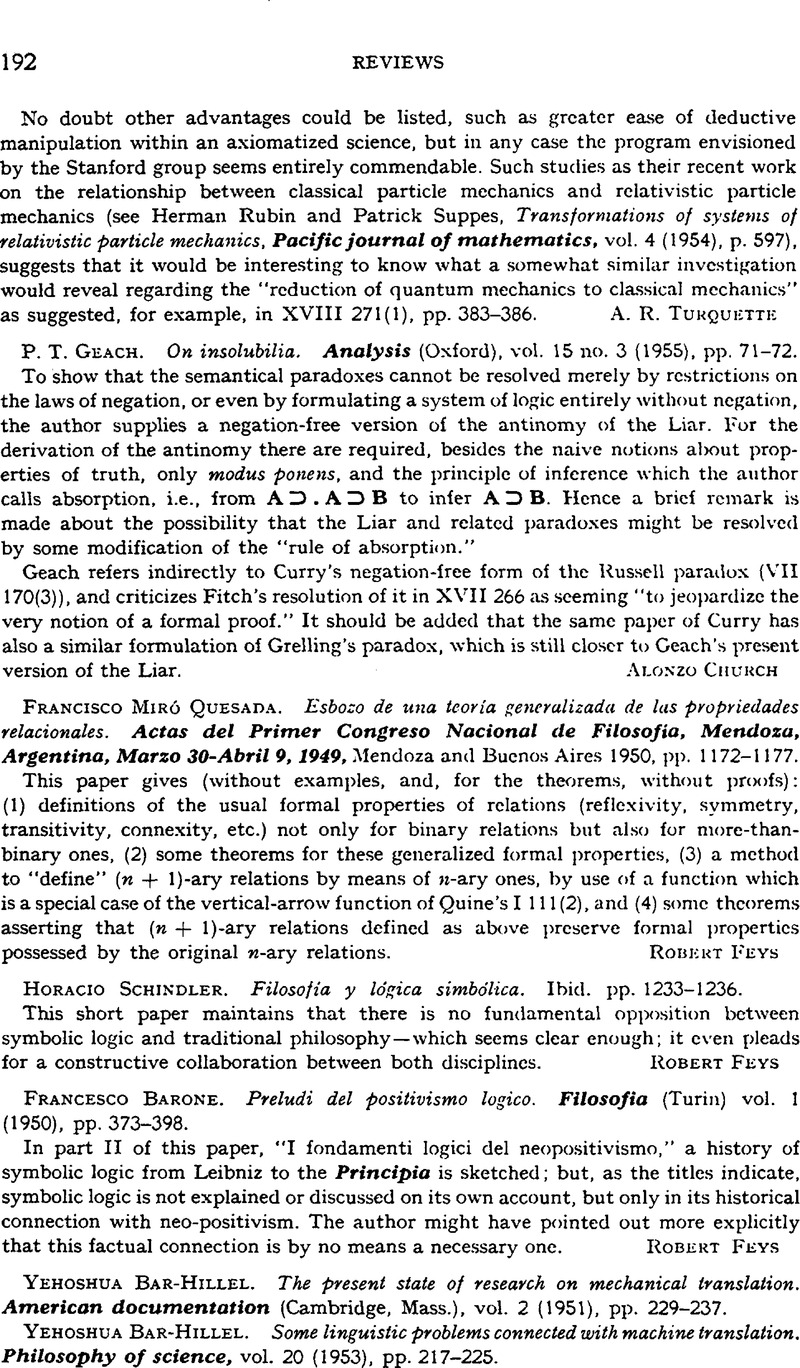 Yehoshua bar hillel the present state of research on mechanical copyright copyright association for symbolic logic 1955 biocorpaavc Image collections