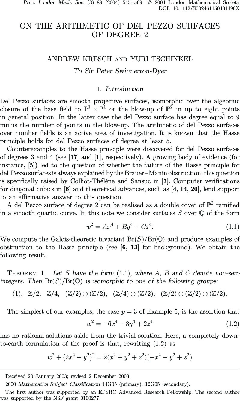 On the arithmetic of del Pezzo surfaces of degree 2