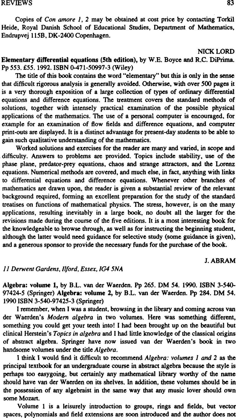 boyce and diprima 11th edition pdf