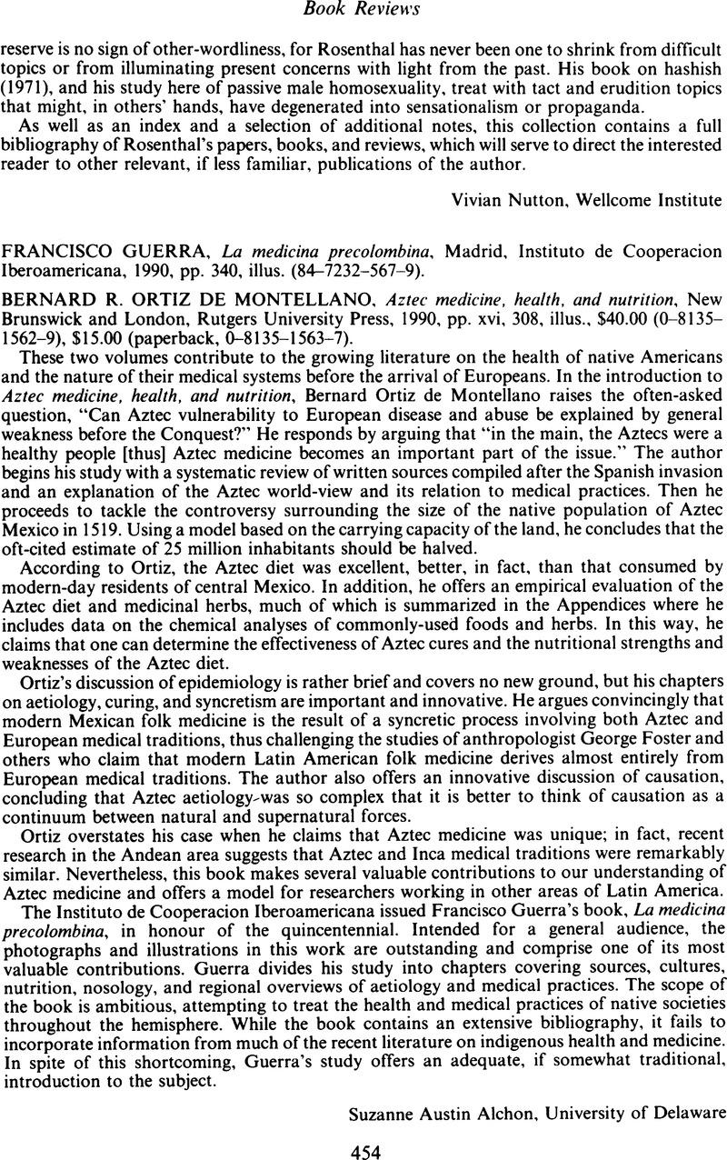 Francisco Guerra, La medicina precolombina, Madrid