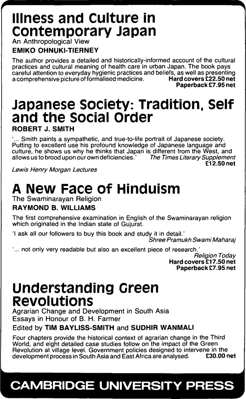 ASS volume 19 issue 1 Back matter | Modern Asian Studies