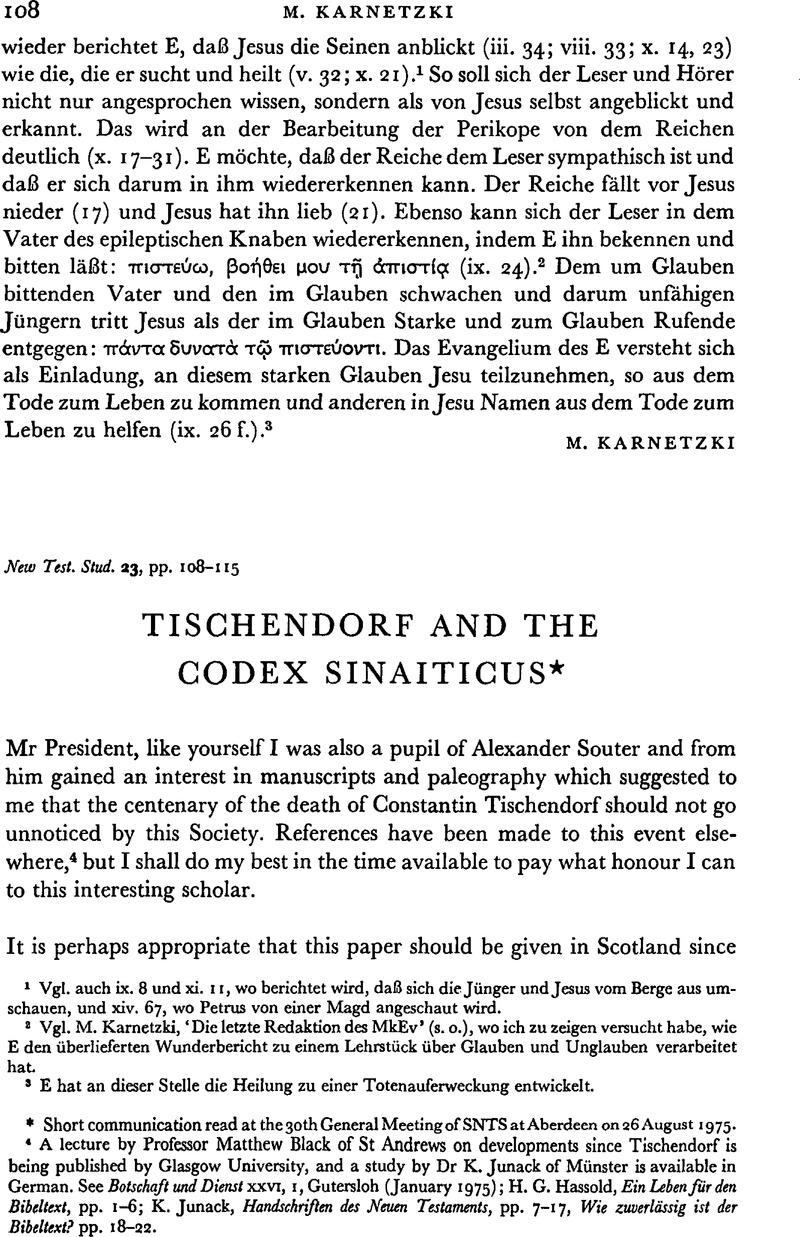 Tischendorf and the Codex Sinaiticus* | New Testament