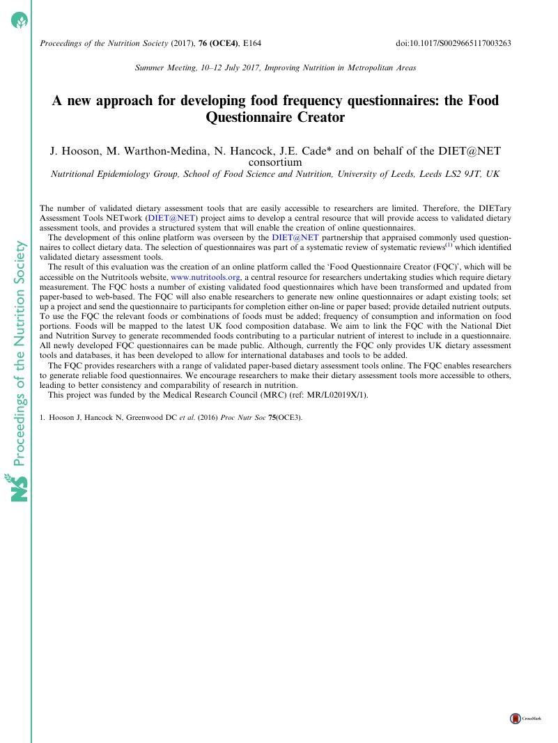 a new approach for developing food frequency questionnaires the