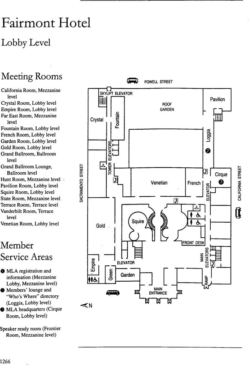 Floor Plan Of The Fairmont Hotel Pmla Cambridge Core