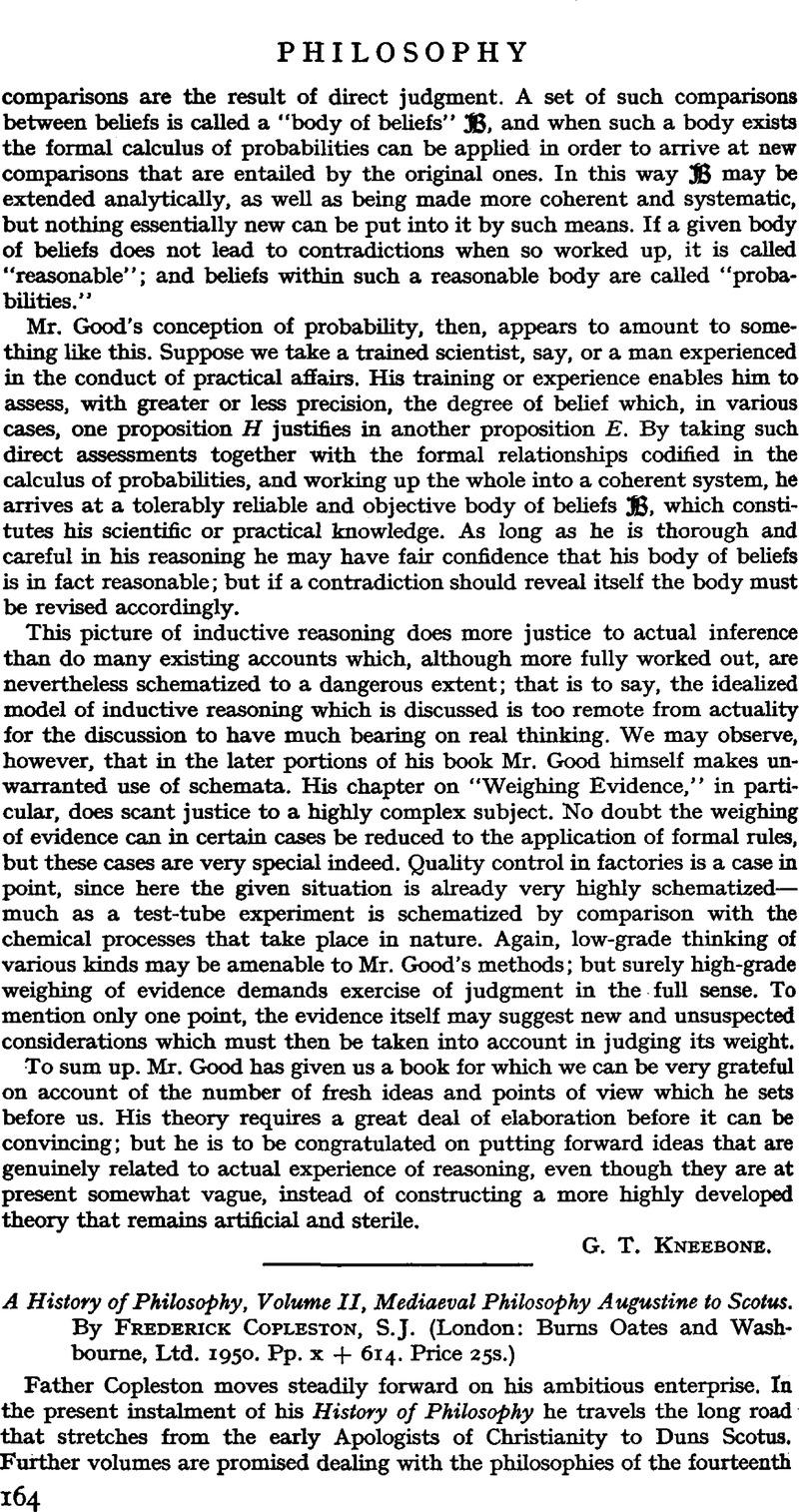 A History Of Philosophy Volume Ii Mediaeval Philosophy Augustine