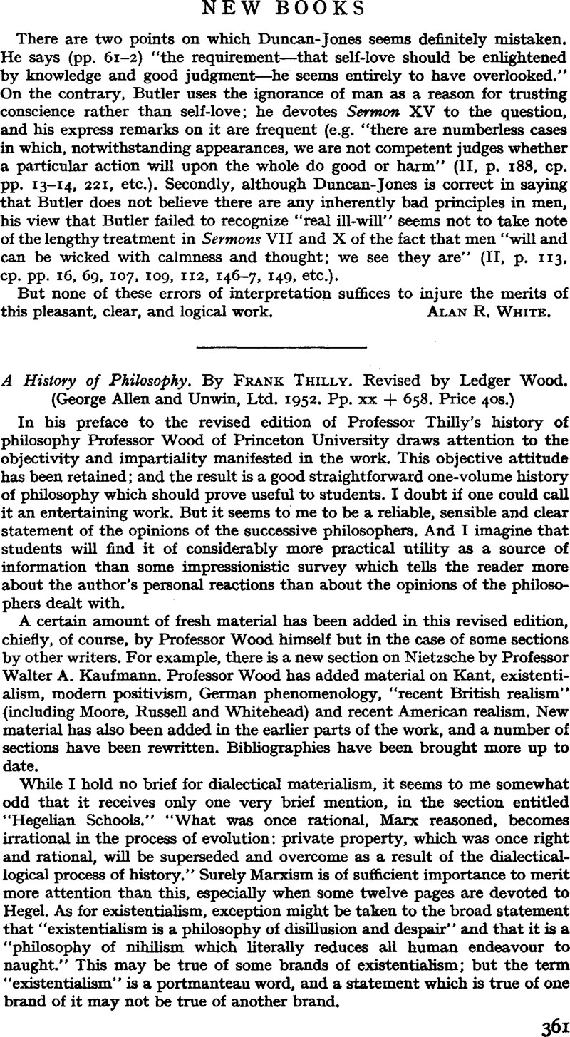 A History Of Philosophy By Frank Thilly Revised By Ledger Wood