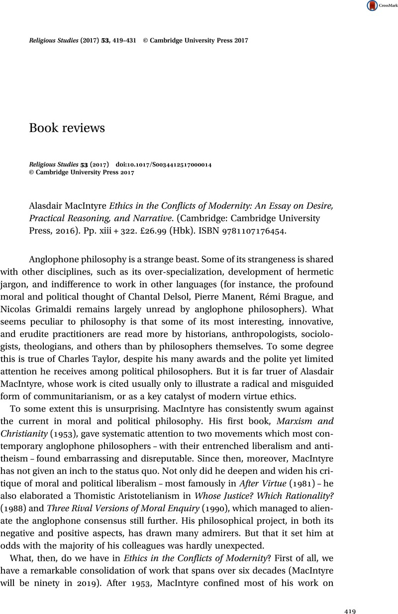 Writing A Proposal Essay Alasdair Macintyre Ethics In The Conflicts Of Modernity An Essay On  Desire Practical Reasoning And Narrative Cambridge Cambridge  University Press  Synthesis Essay Ideas also English Narrative Essay Topics Alasdair Macintyre Ethics In The Conflicts Of Modernity An Essay On  Sample Essay Topics For High School