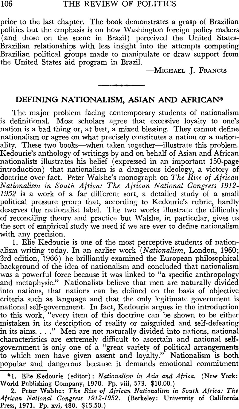 nationalism & new states in Africa
