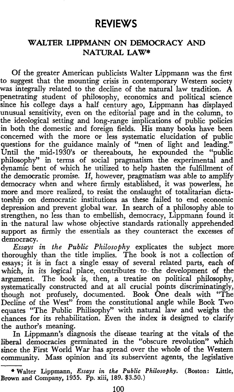 Walter Lippmann On Democracy And Natural Law  Lippmann Walter  Captcha