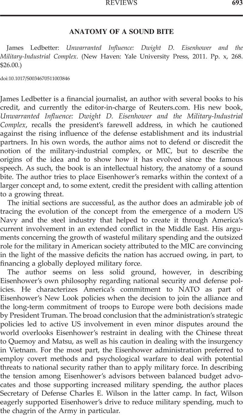 ANATOMY OF A SOUND BITE - James Ledbetter: Unwarranted Influence ...