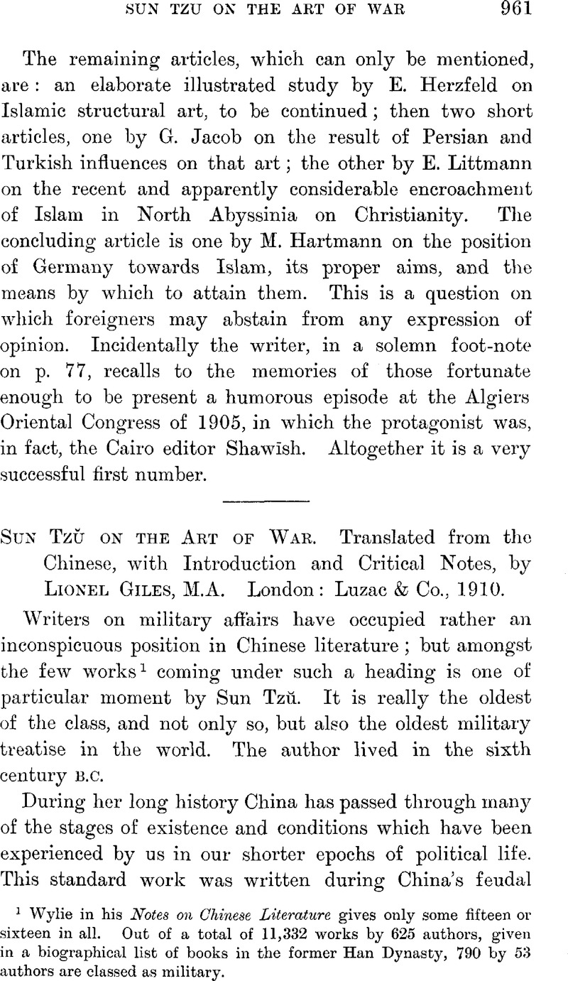 Sun Tzŭ on the Art of War  Translated from the Chinese, with