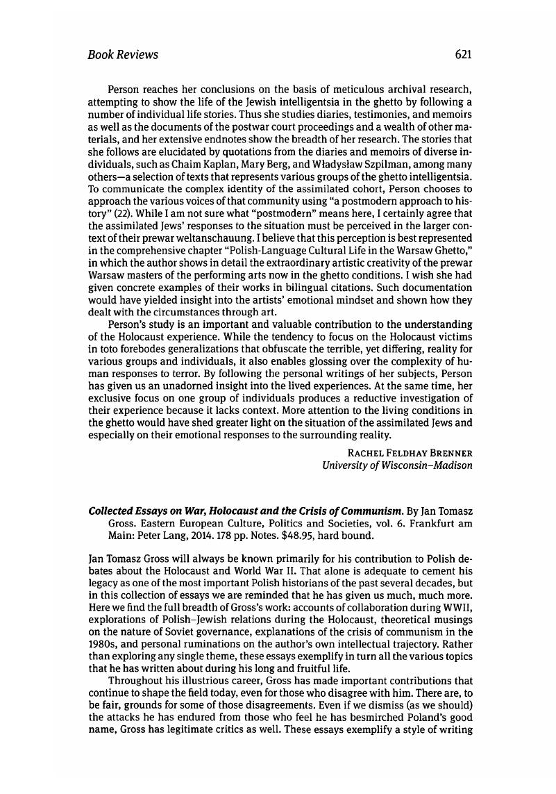 Argumentative Essay Examples For High School Collected Essays On War Holocaust And The Crisis Of Communism By Jan  Tomasz Gross Eastern European Culture Politics And Societies Vol  English Essays For Students also Apa Format Essay Paper Collected Essays On War Holocaust And The Crisis Of Communism By  Best Business School Essays