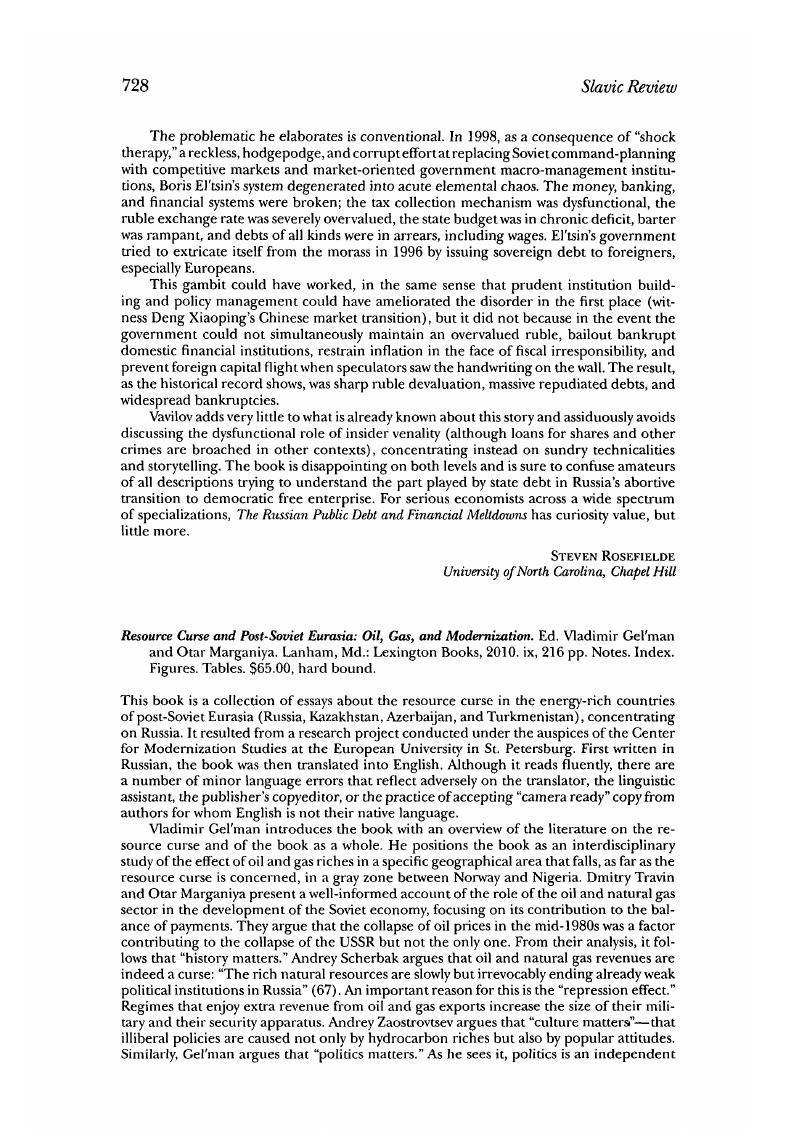 resource curse and postsoviet eurasia oil gas and modernization