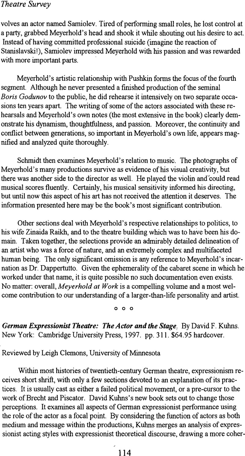 expressionist theatre plays