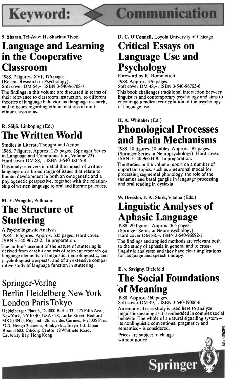 LSY volume 17 issue 2 Cover and Back matter | Language in