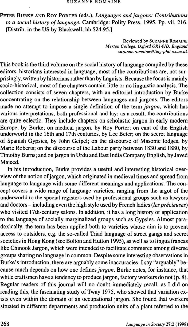 language variation and change journal pdf