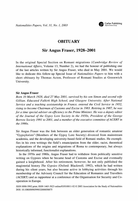 Romani Last Names