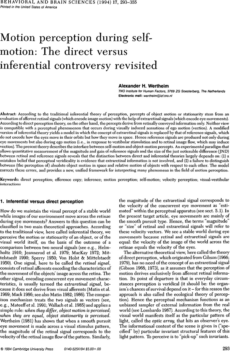 vestibular system part 2 psychophysics applied aspects and general interpretations kornhuber h h