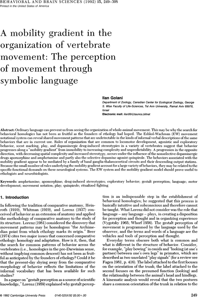 What are voluntary movements made of? | Behavioral and Brain