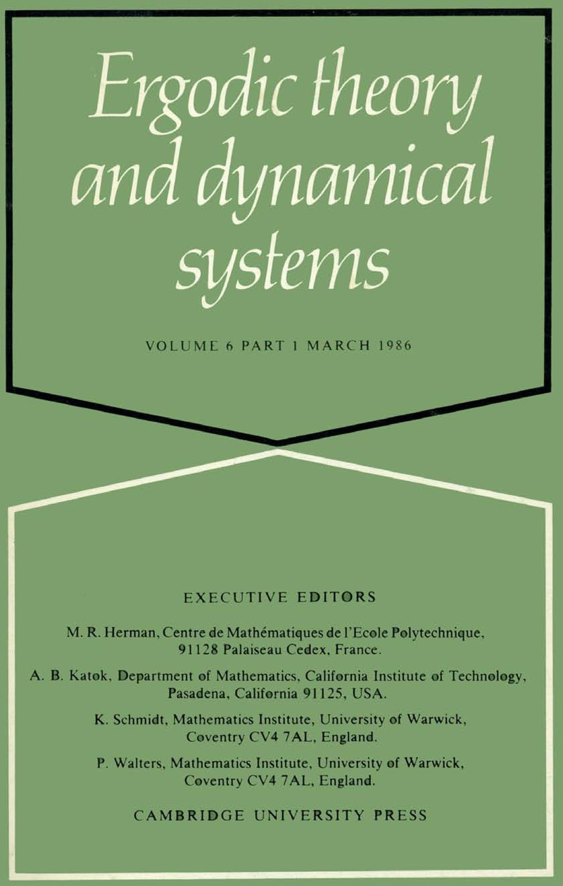 ETS Volume 6 Issue 1 Cover And Front Matter