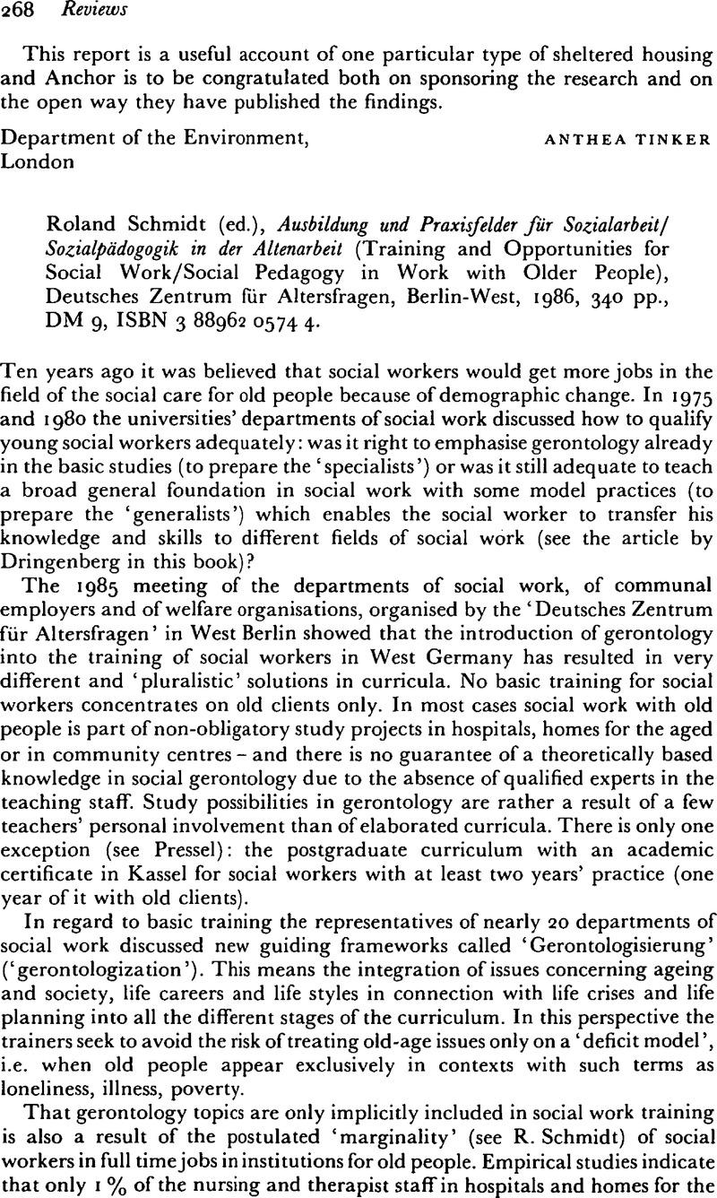 Schmidt Roland Ed Ausbildung Und Praxisfelder Für Sozialarbeit