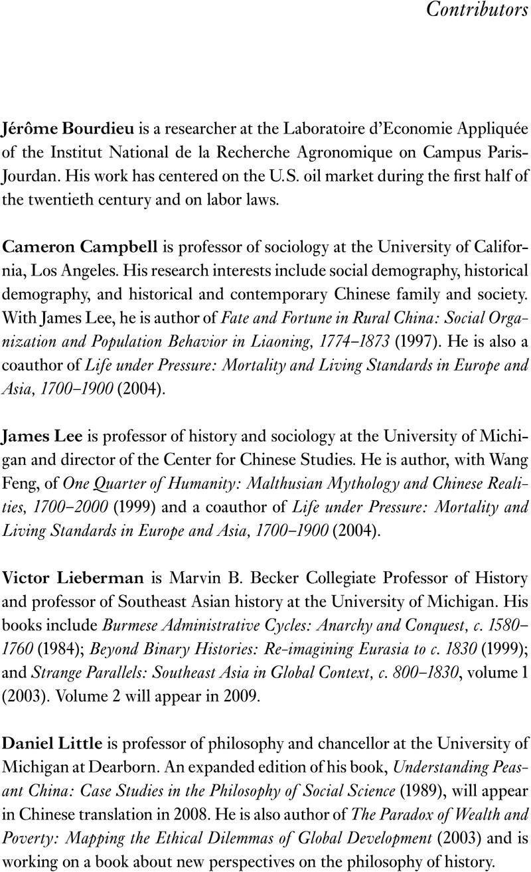 Contributors | Social Science History | Cambridge Core