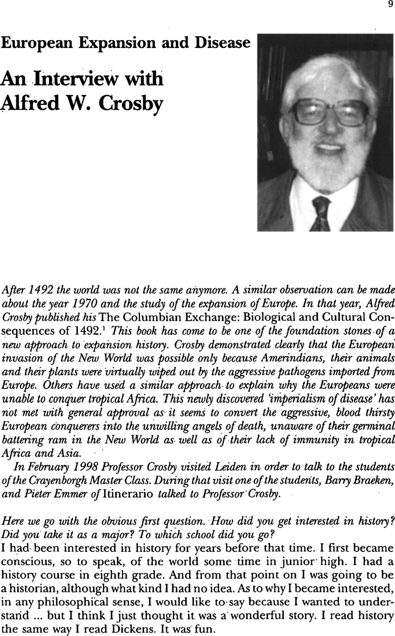 ecological imperialism crosby chapter summary