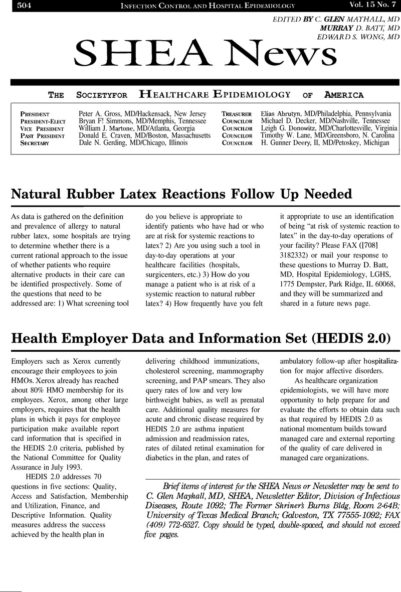 Natural Rubber Latex Reactions Follow Up Needed | Infection Control