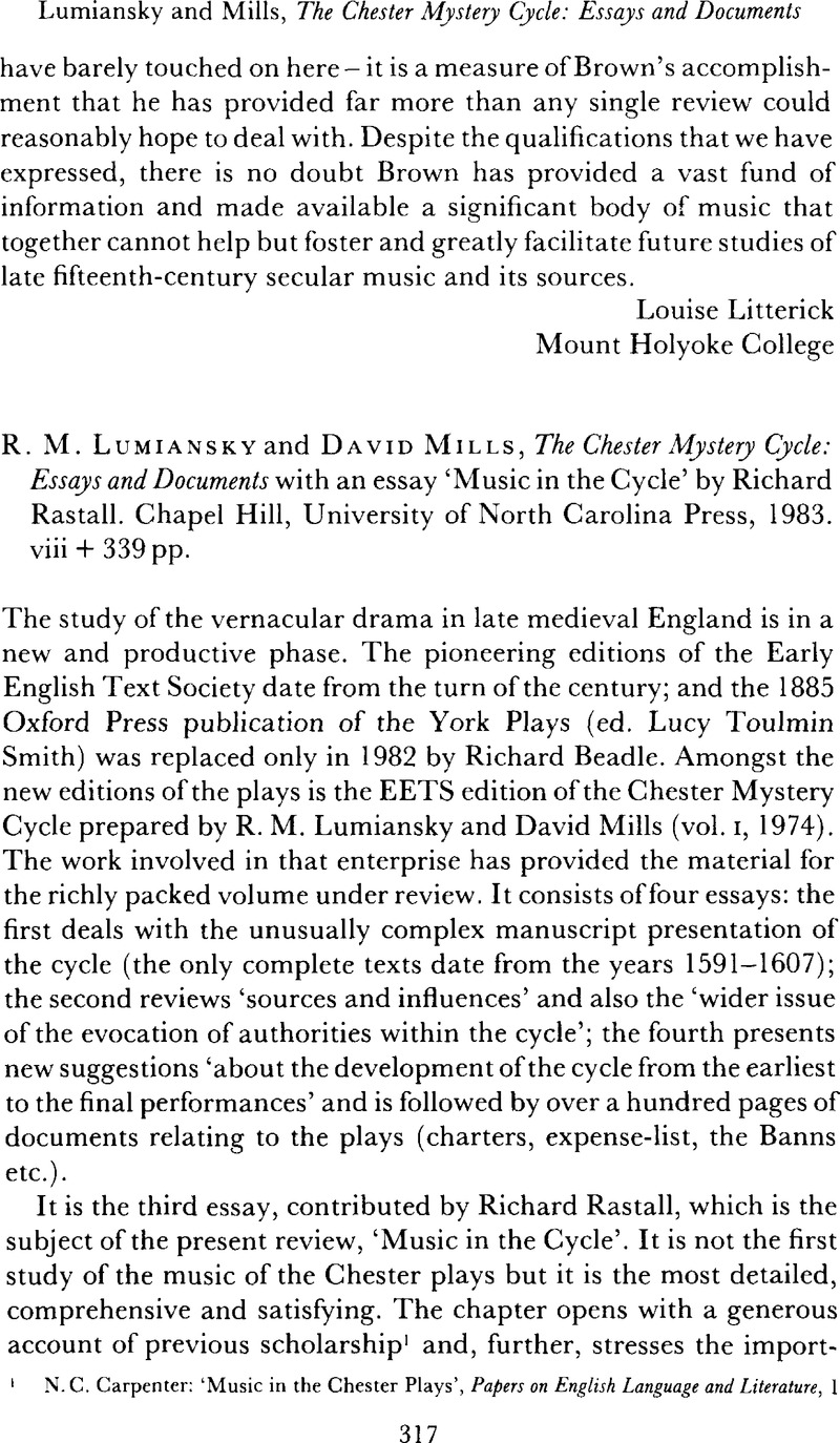 Good Health Essay R M Lumiansky And David Mills The Chester Mystery Cycle Essays And  Documents With An Essay Music In The Cycle By Richard Rastall Synthesis Essay also English Short Essays R M Lumiansky And David Mills The Chester Mystery Cycle Essays  Sample Narrative Essay High School