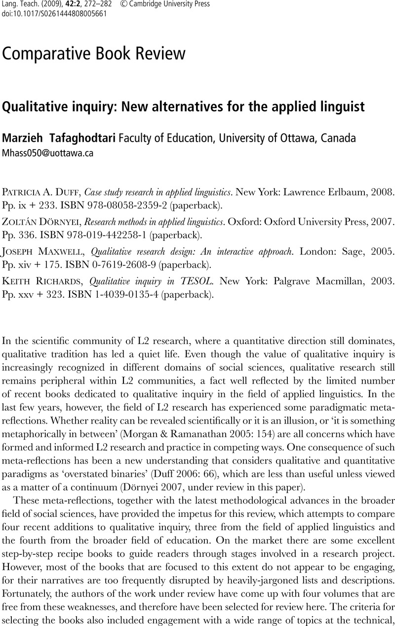 Research on Second Language Teacher Education  A by Karen E