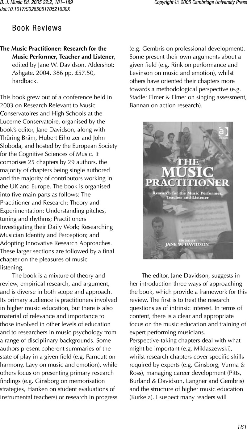 music therapy research articles