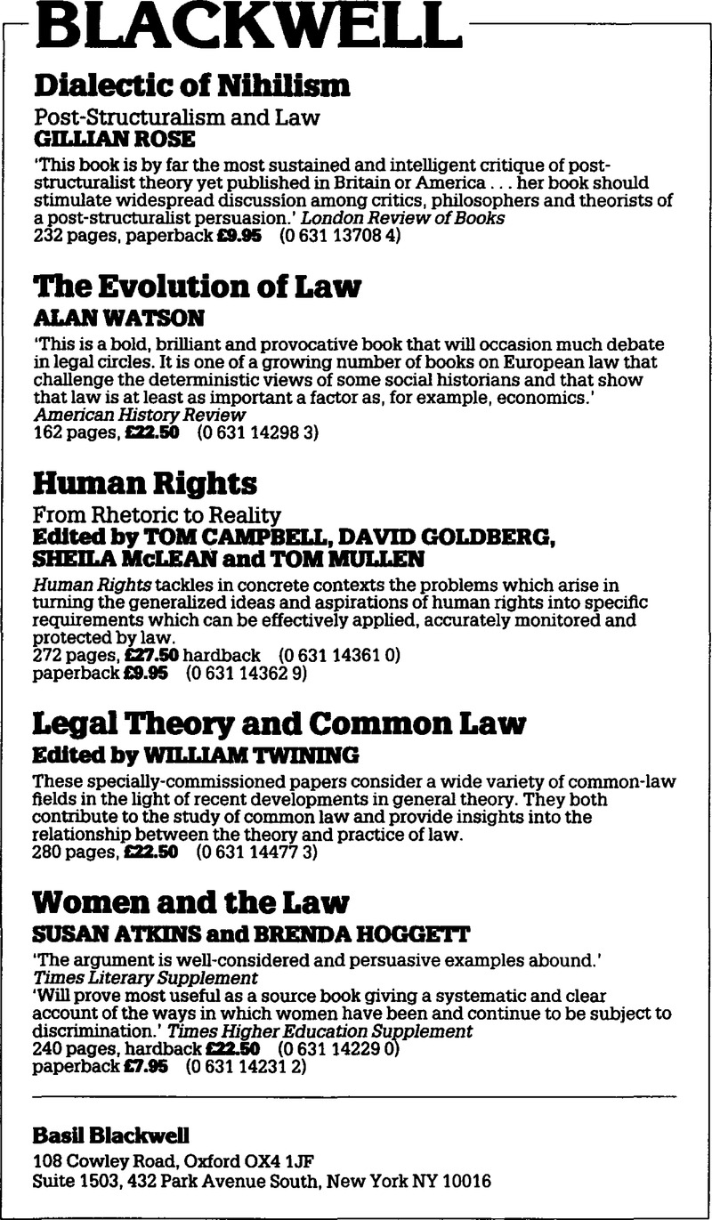 examples of legal theory