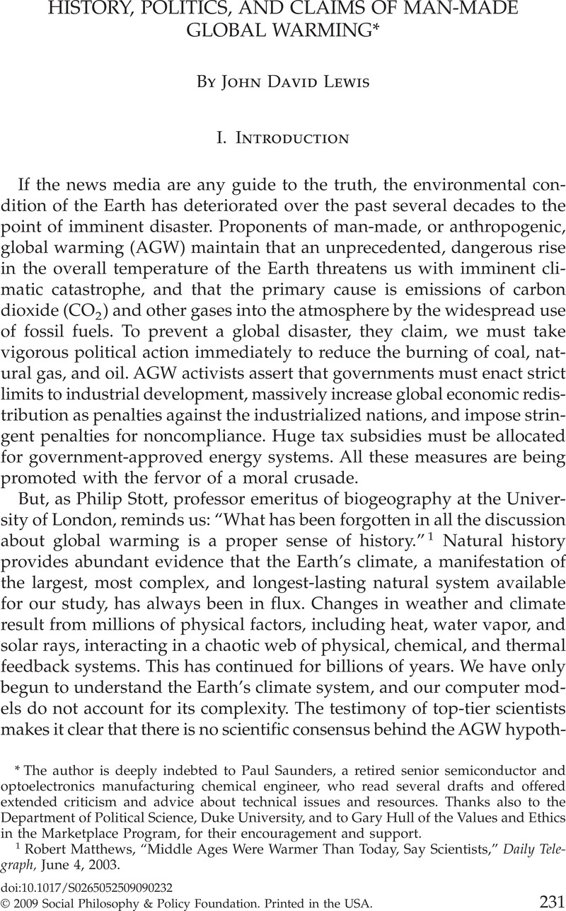 Is Global Warming Man Made >> History Politics And Claims Of Man Made Global Warming Social
