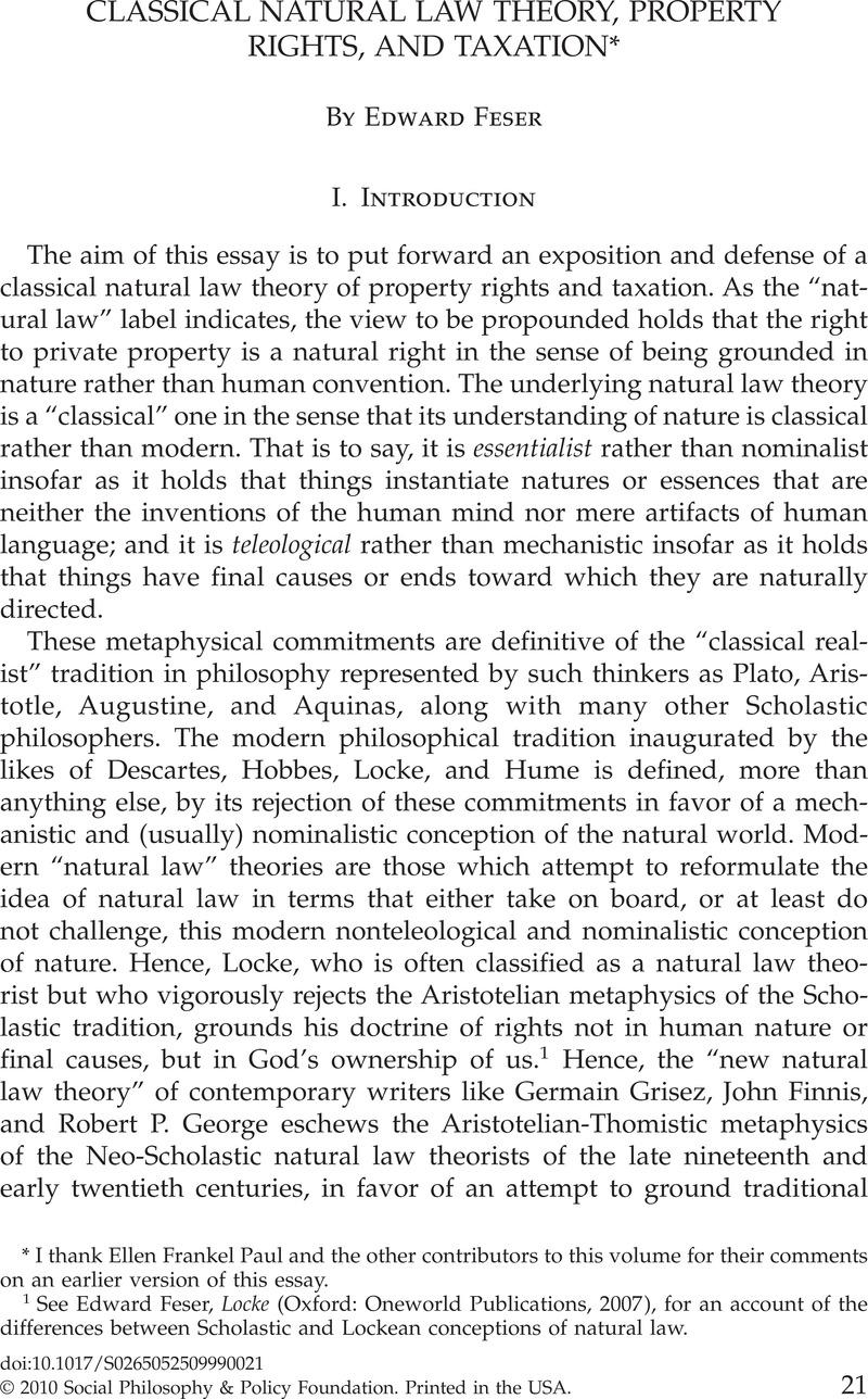 lockes theory of natural rights