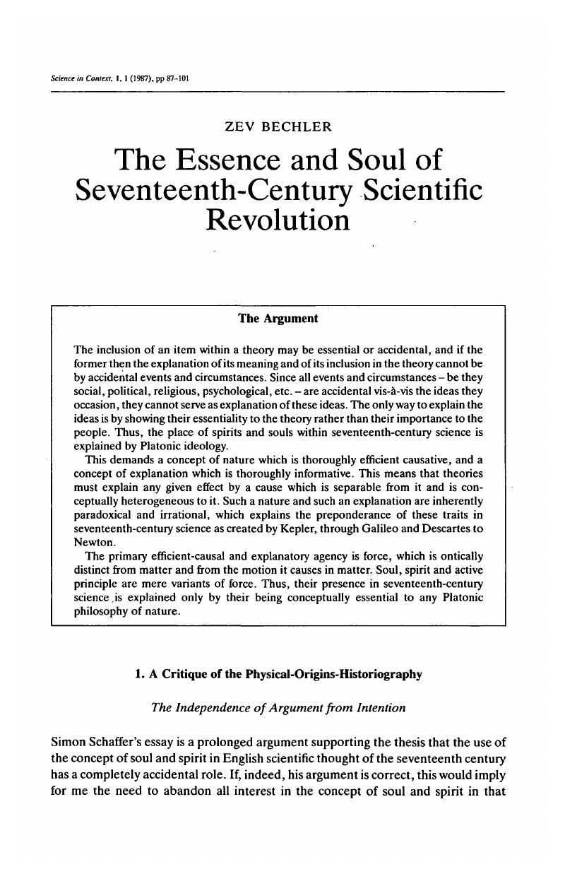 scientific interest essay