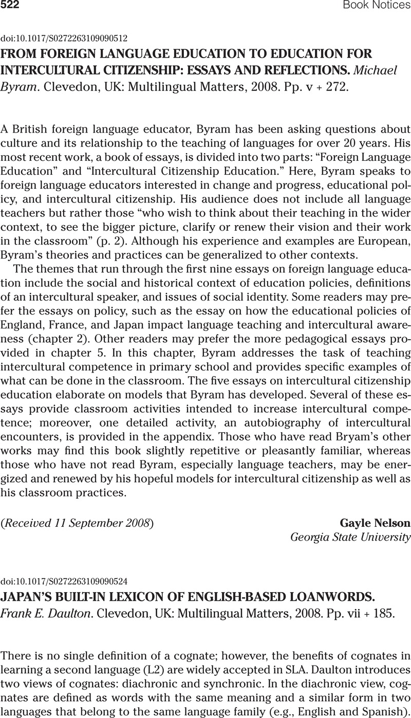 from foreign language education to education for intercultural  abstract