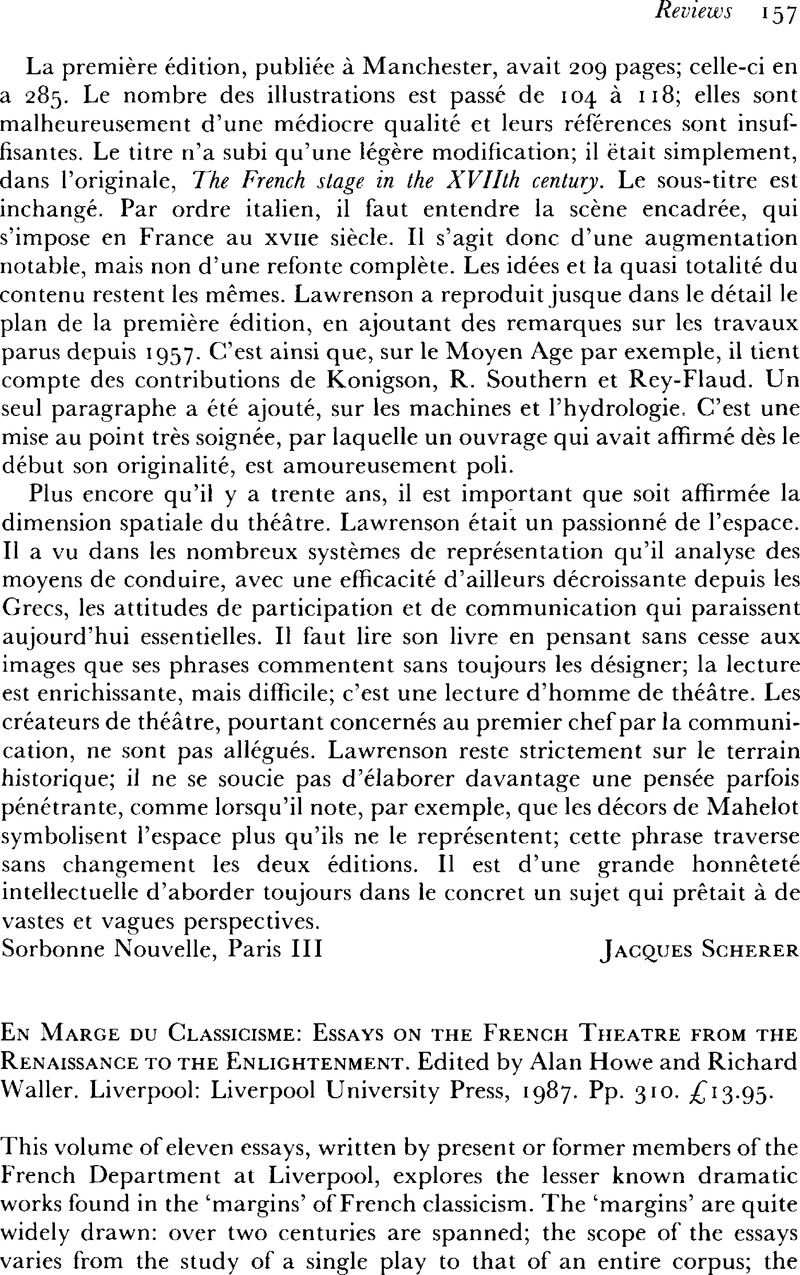Science Essays Captcha  Research Essay Proposal Sample also International Business Essays En Marge Du Classicisme Essays On The French Theatre From The  Sample Business School Essays